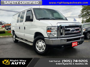 2012 Ford E-250 Econoline | LOW KMS | SAFETY CERTIFIED