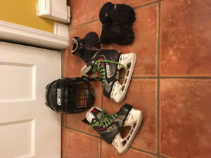 Kids Size 3 Skates and X-Small Helmet
