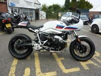 BMW R NINE T RACER 2017 MODEL CAFE RACER WHITE AND TRI COLOUR GRAPHICS
