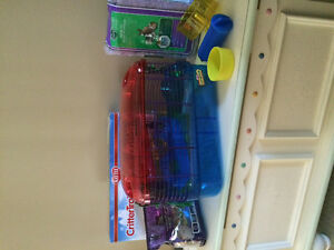 Hamster Cage, food, bedding NEW (never used)