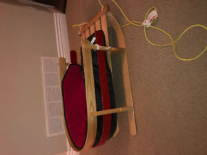 Baby / Toddler Sled with Cushion and Foot Cover