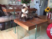 3 modern ex display tables. Coffee / hall / occasional cost over 600