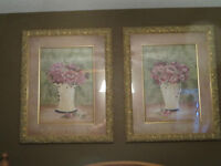 Matted Floral pictures