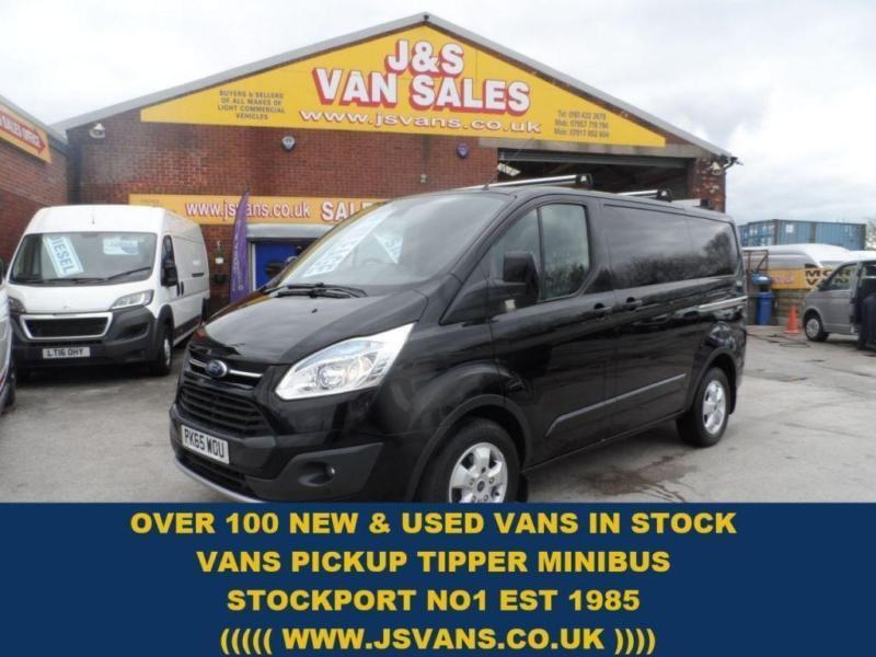 2015 65 FORD TRANSIT CUSTOM 2.2 290 LIMITED LR P/V BIGGER 155 BHP + AIR CON + SA