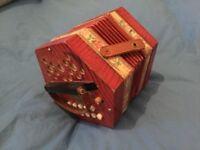 20 Key D A German concertina