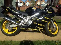 99 cbr600 fx and upto £1000 for bigger/newer bike