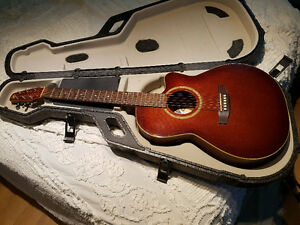 Seagull S6 + CW acoustic/electric guitar w/case