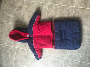 Baby Boy 6 month (16lbs) Winter Coat for stroller/car seat