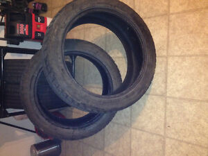 Two 22in tires pritty worn but still hold air good for summer