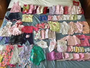 **Superbe lot de vêtements pour Bébé Fille – Nouveau-né  0M – 3M