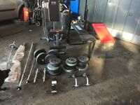 Multi gym , weight bench , sit-up bench and weights