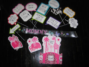 Baby shower / gender reveal party decor kit
