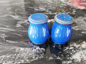 Denby Imperial Blue salt and pepper shaker set