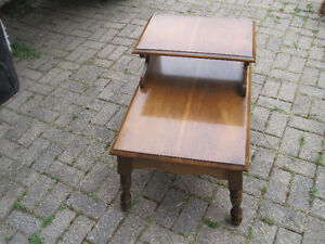 2 Tier Wood Side Table