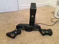 250GB Xbox 360 with two controllers and Kinect