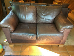 Beautiful leather couch set