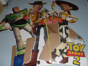 Blockbuster Video Toy Story 2 in-store display cardboard cutouts