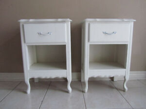 Pair French Provincial Nightstands