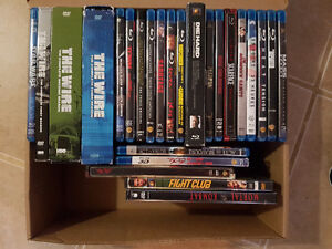 Assorted Blu ray and DVD movies