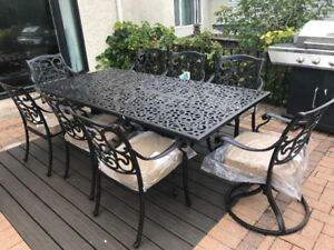 BRAND NEW DINING TABLE patio set with 8 chairs
