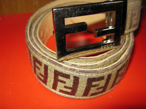 Fendi Monogram Belt And Buckle Vintage Made In Italy