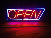 Open Neon Light Sign - Great Condition