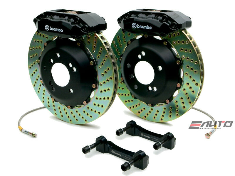Brembo Front Gt Bbk Big Brake 4pot Black 328x28 Drill Disc Rotor Cr-z Zf1 11-13