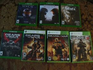 7---xbox one and 360 games lot..