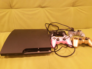 PS3/HDMI Cable/4 Playstation wireless controllers