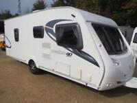 Sterling Eccles Ruby 2010 4 Berth Fixed Double Bed Single Axle Touring Caravan