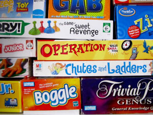 Board games, puzzles, educational toys please