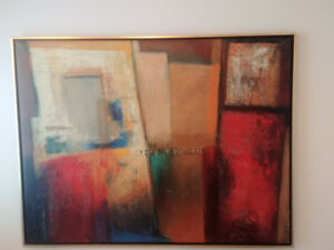 Grand Tableau IKEA Hallaryd NEUF! NEW Ikea Painting Framed Canva