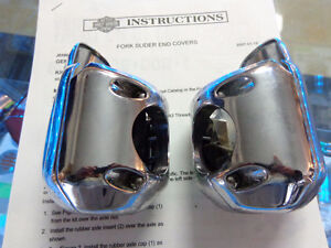 Harley ultra fork slider chrome covers-  recycledgear.ca