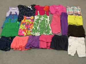 32 pcs of great shape summer clothes for girl size 24 mo - 2T