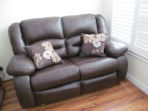 Italian Leather Love Seat Firm Price