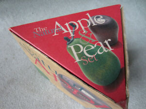 BRAND NEW - APPLE & PEAR WOODEN SALT AND PEPPER MILL