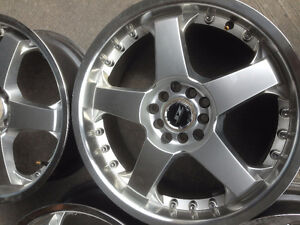 17 inch racing rims multi-fit Like Brand New Used only Once