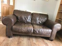 2-seat leather sofa