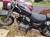 Yamaha 535 virago motorcycle
