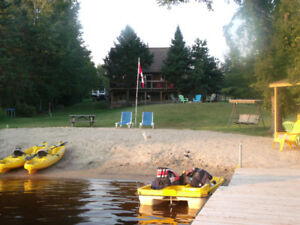 Waterfront Location on private Sandy Beach in Magnetawan, On