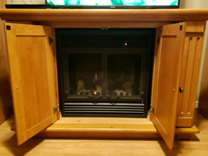 Toasty warm electric fireplace/tv stand