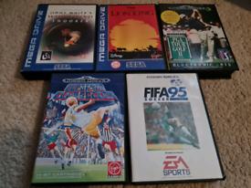 5 Sega Mega Drive Games Bundle Fifa 95 Lion King Joblot