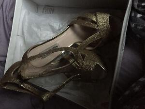 Steve Madden gold sparkling shoes