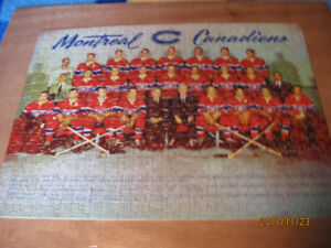 CASSE-TÊTE - JIGSAW PUZZLE- CANADIENS MONTRÉAL 1952-53