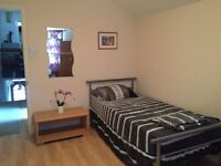 A semi double room for rent /available now/close to station