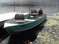 9.9 Hp MECURY OUTBOARD and 14' ALUMINUM BOAT