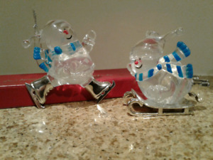 Acrylic Snowman Christmas Tree Ornaments