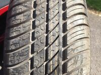 "175 65 14"" tyre new Michelin on ford rim"