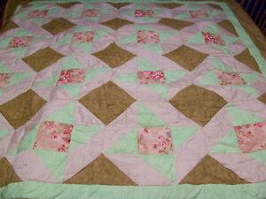 Hand Stitched Lap Quilt 53 by 54