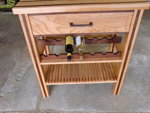 HAND MADE BUTCHER BLOCK / WINE RACK